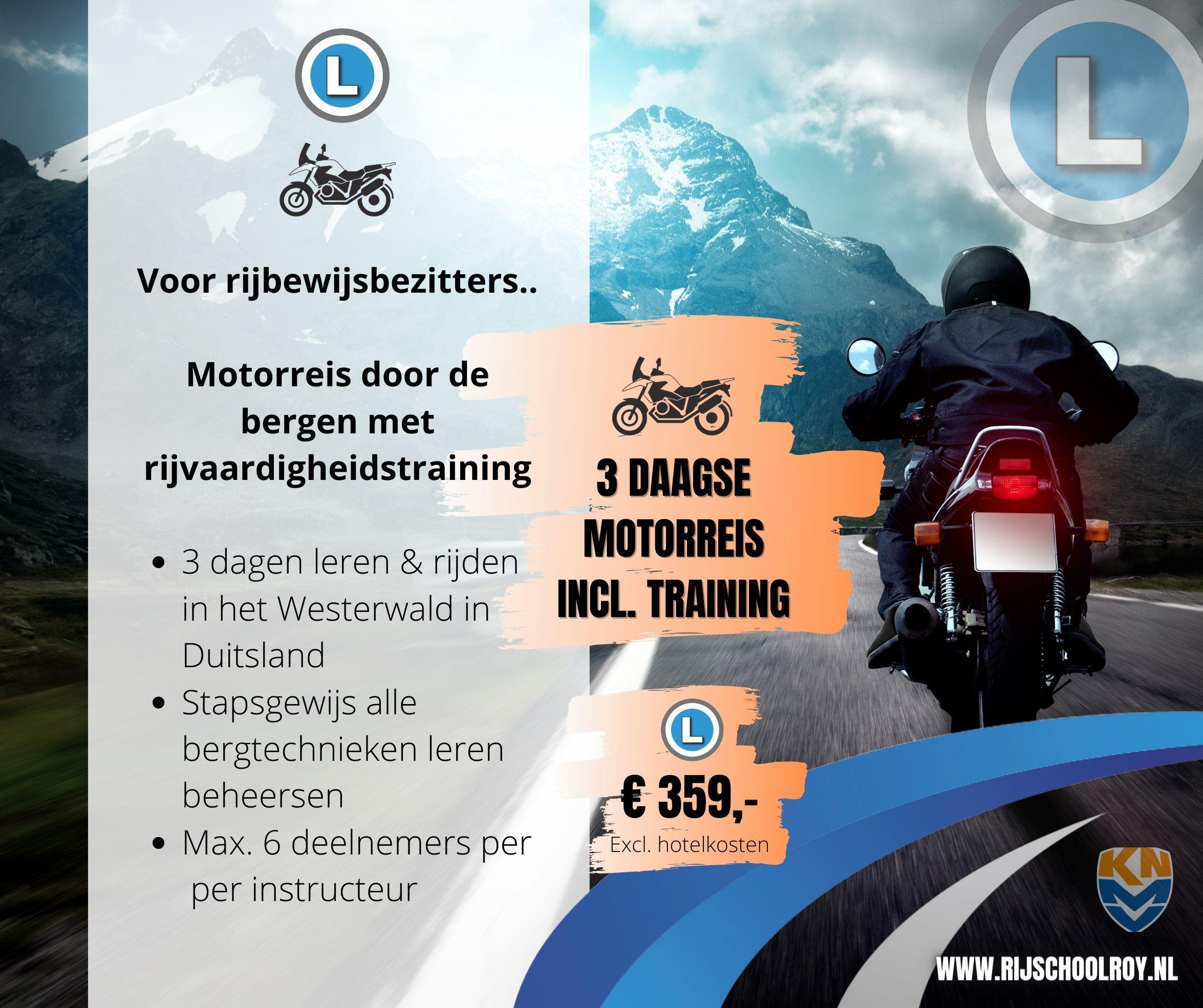 MOTORREIS INCL TRAINING