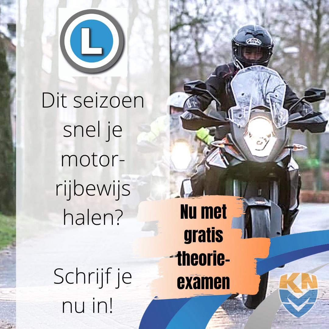 Advertentie Motorrijschool Gratis Theorie